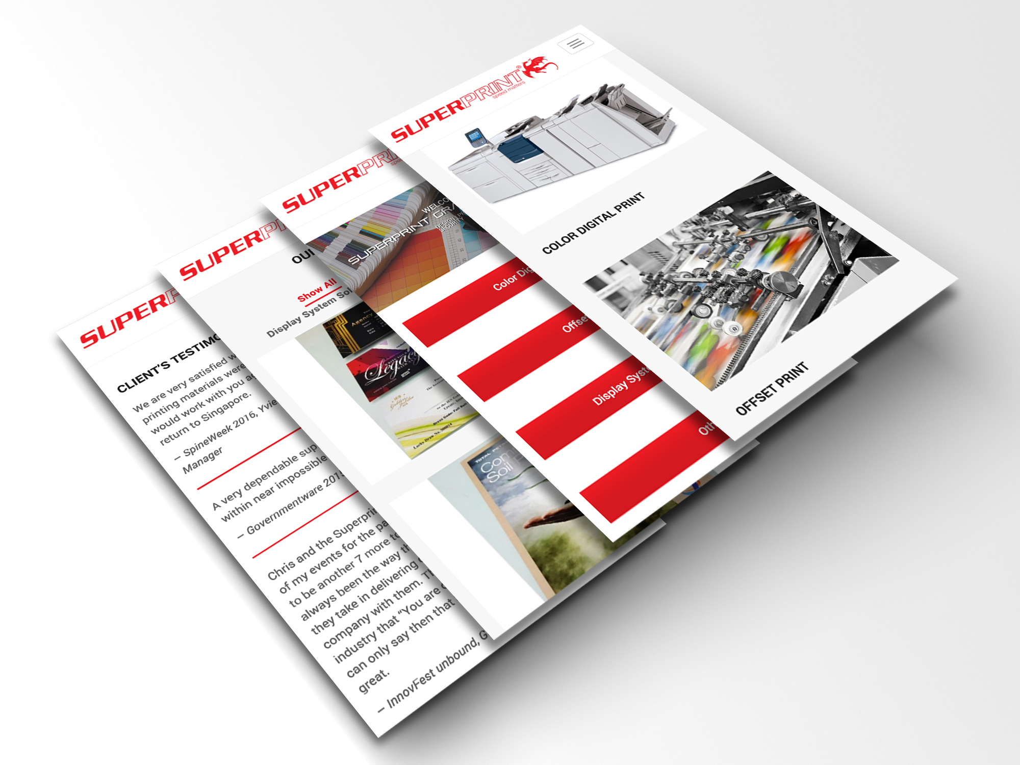 super print mobile ui web design