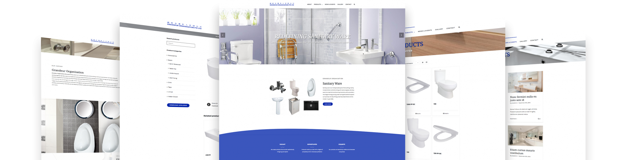 grandeur 5 display web design