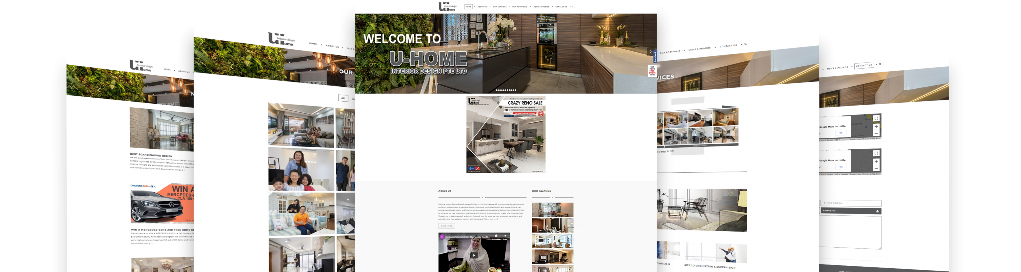 uhome 5 display web design