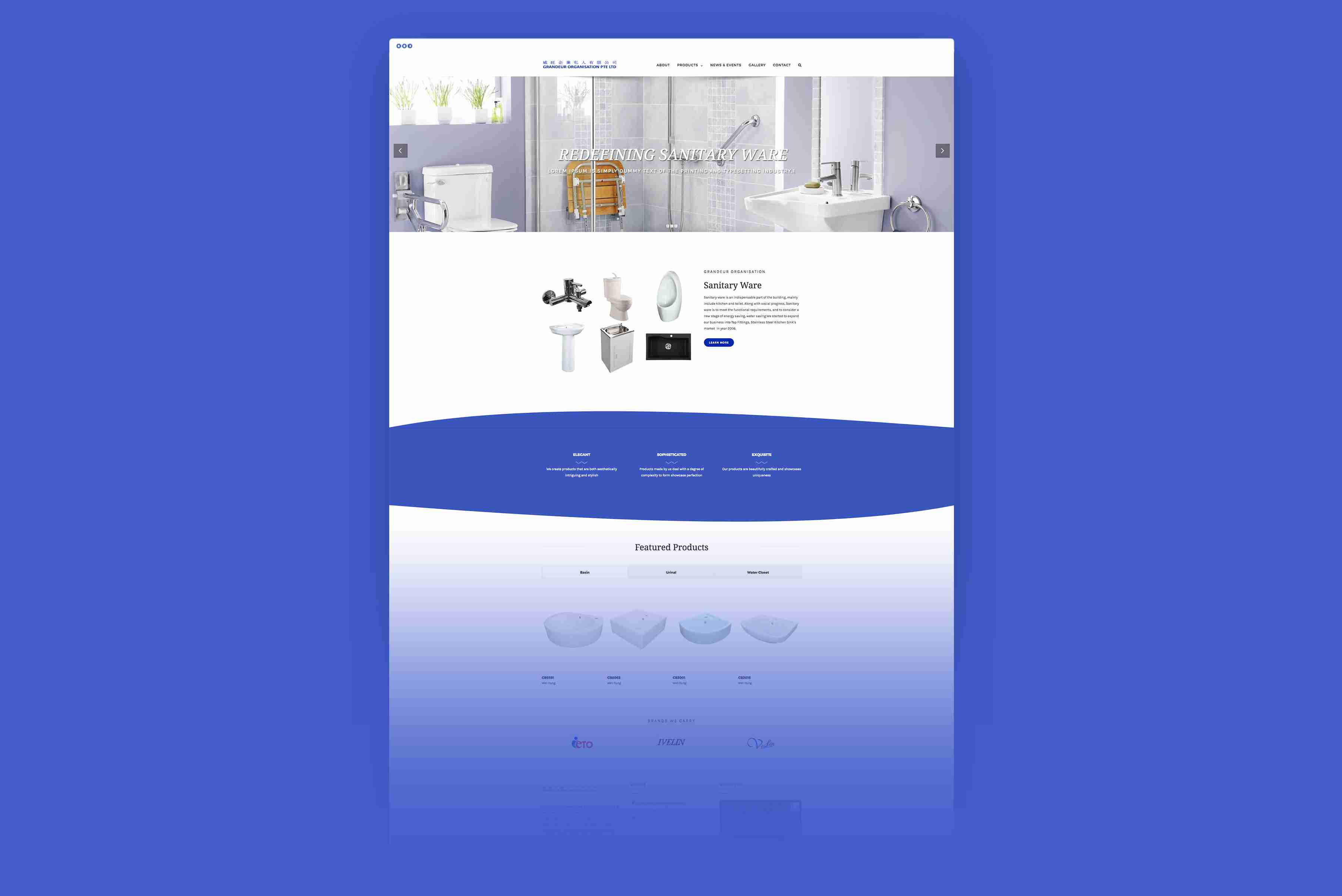 grandeur full web design