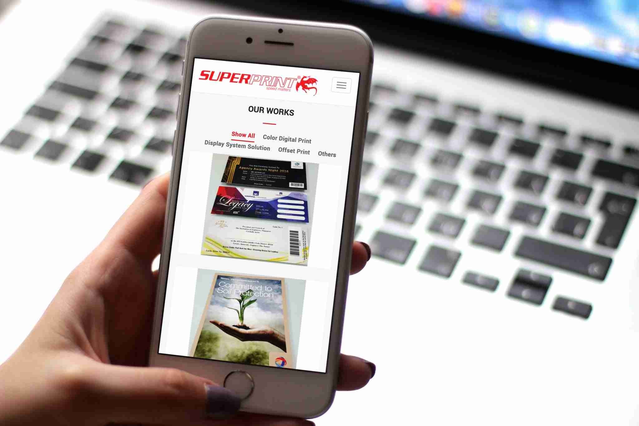 super print mobile web design