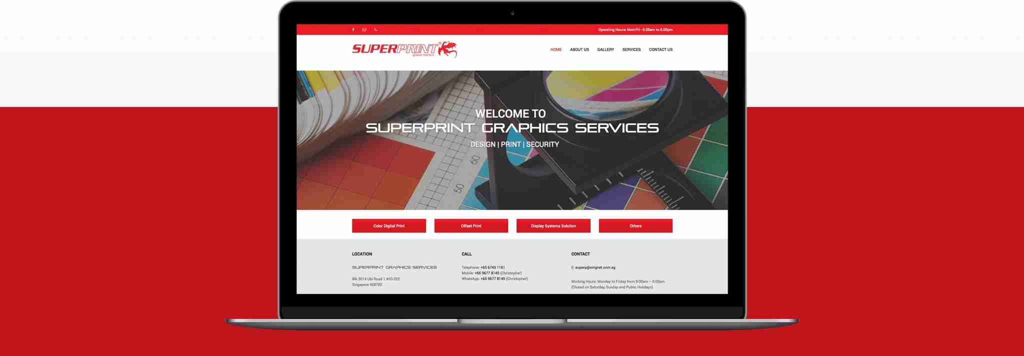 super print laptop web design