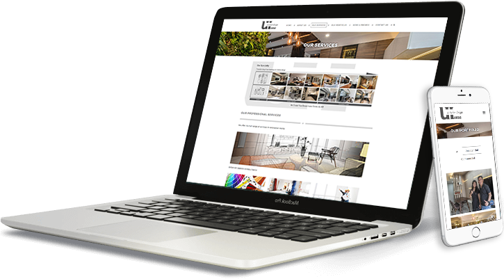 uhome laptop and mobile web design