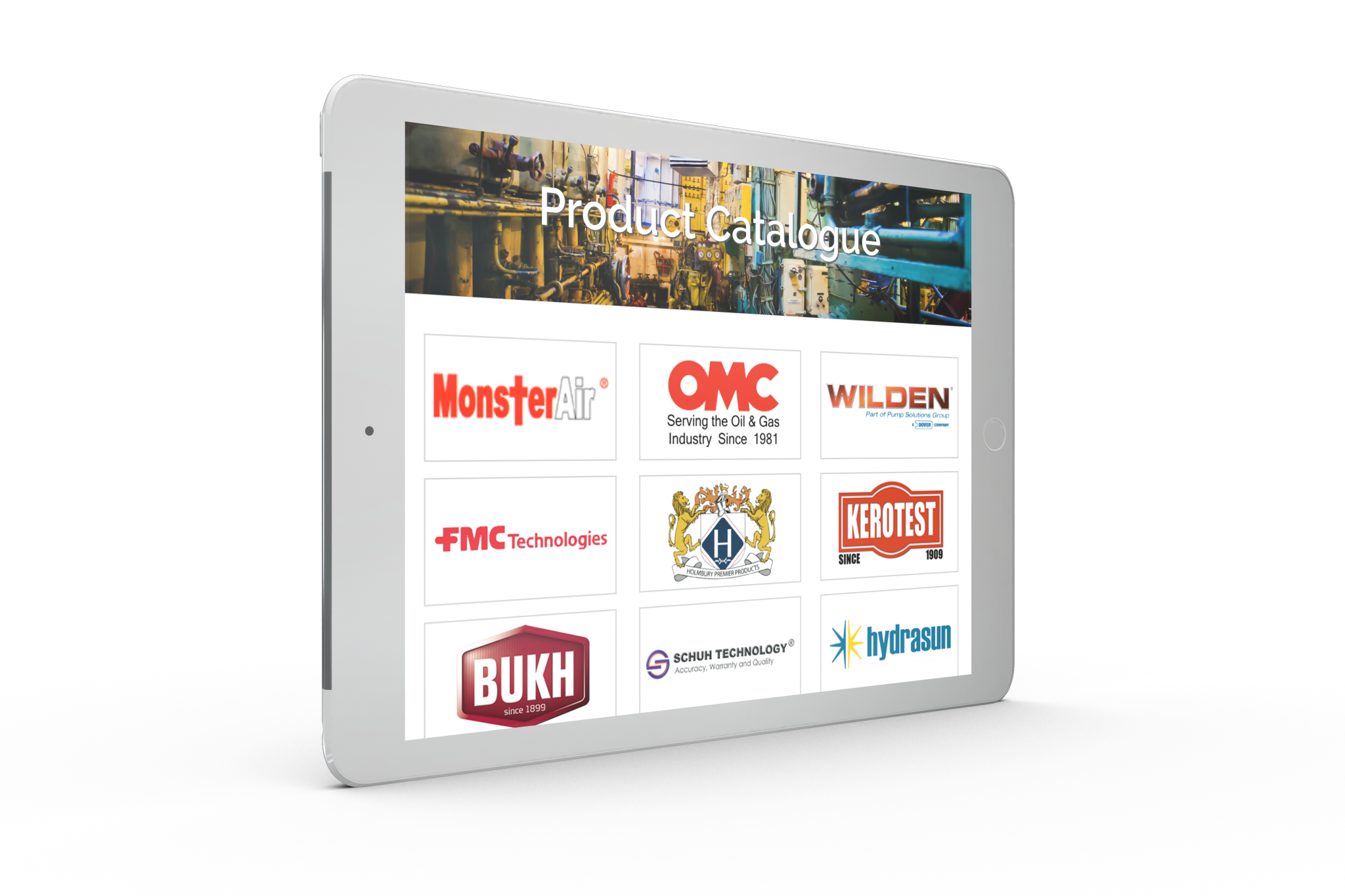 omc corp tablet web design