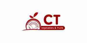 ct vege and fruits color logo for web design