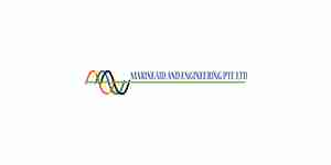 marine aid and engineering color logo for web design