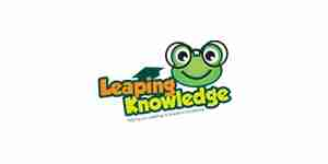 leaping knowledge color logo for web design