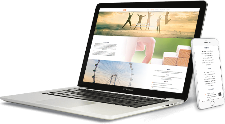 smart corp laptop and mobile web design