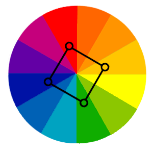 Square Colour Wheel in web design