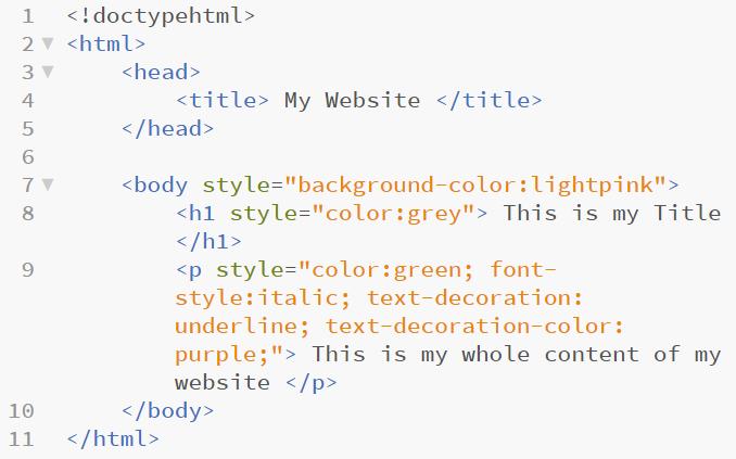 html sample 7 in web development