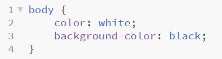 In the .css file web development