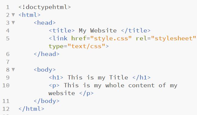 html sample 11 in web development