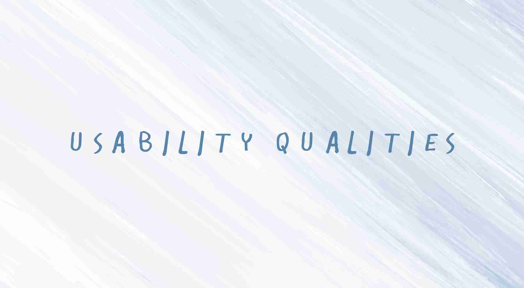 usability-qualities in web design