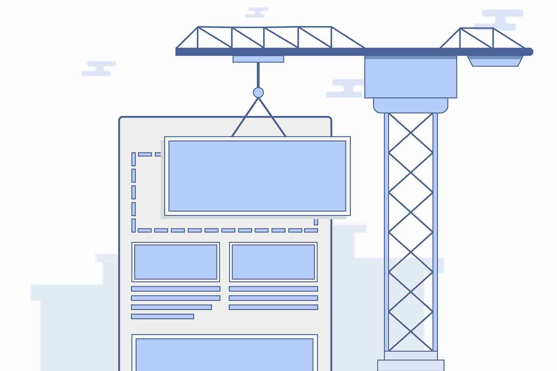 Site Arrangement Picture in web development