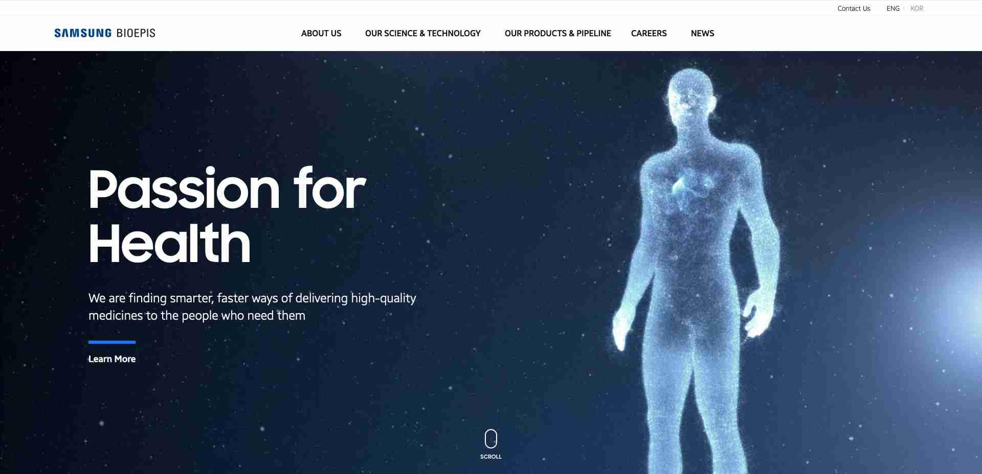 Samsung Bioepis Homepage