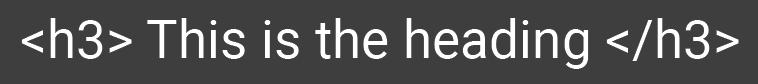 h3 html for web development