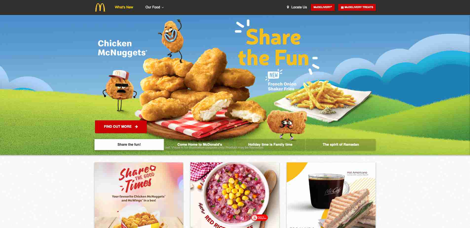 Multiple Site #5: SG McDonald Homepage web design