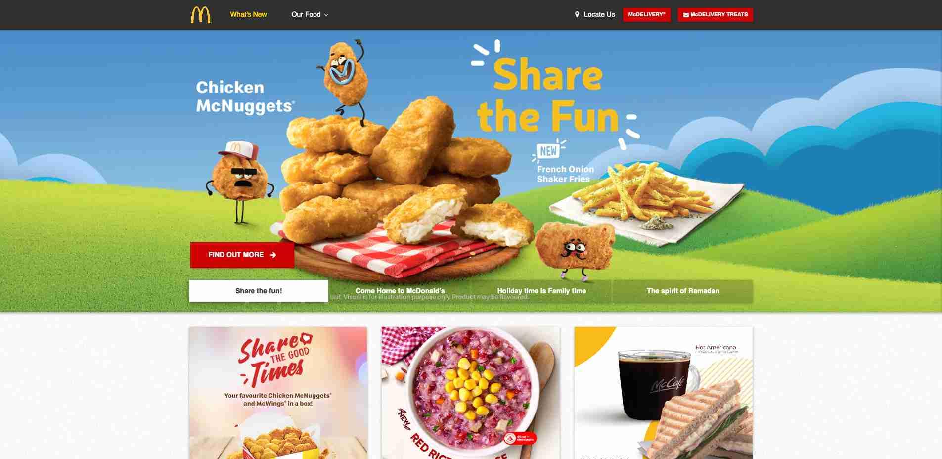 Multiple Site #5: SG McDonald Homepage web design