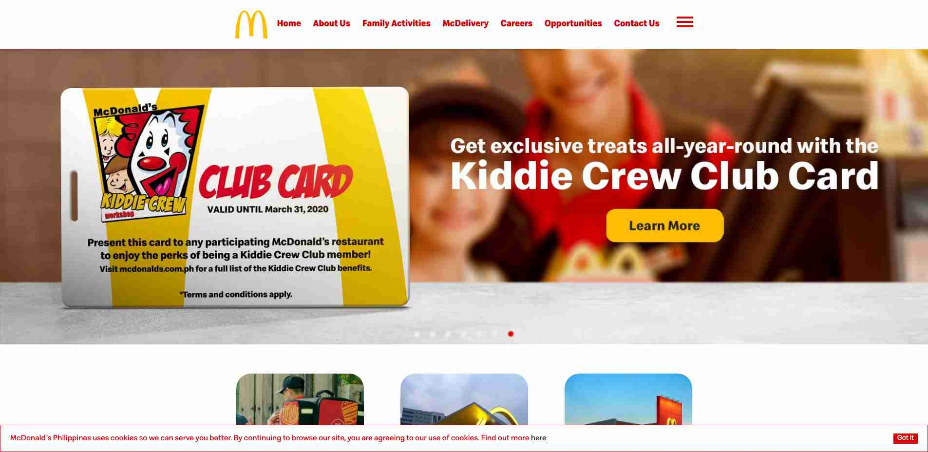 Multiple Site #4: PH McDonald Homepage web design
