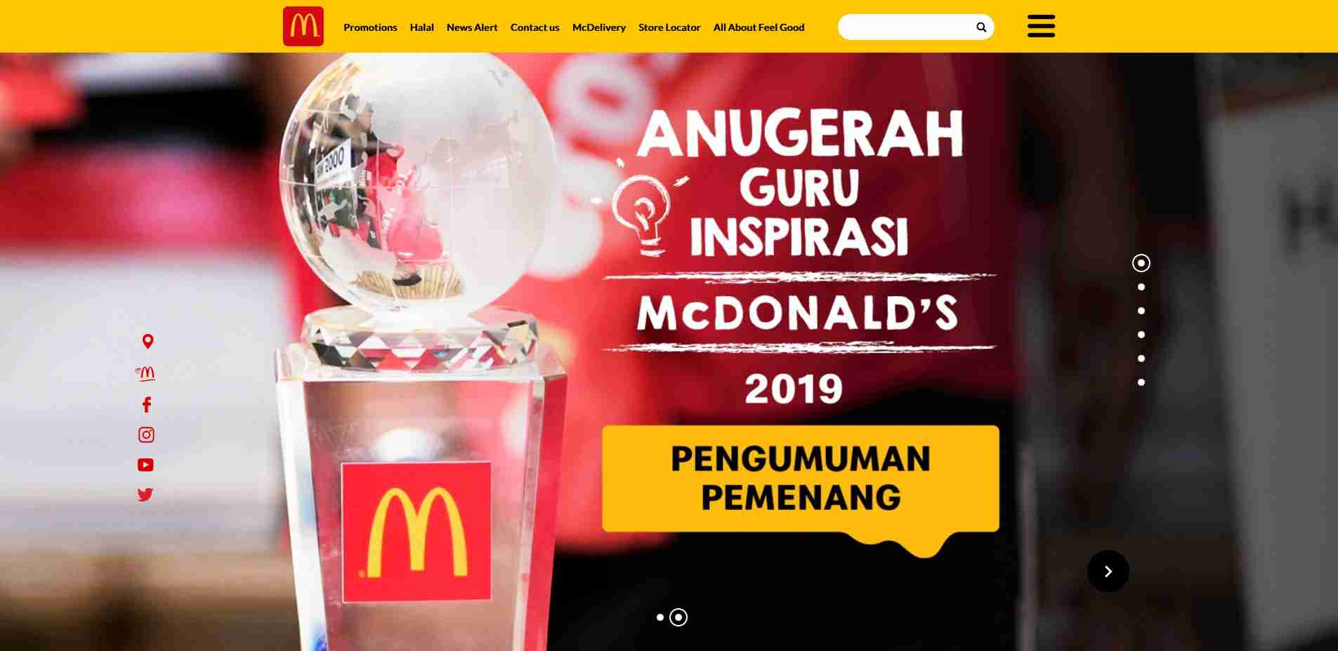 Multiple Site #1: MY McDonald Homepage web design